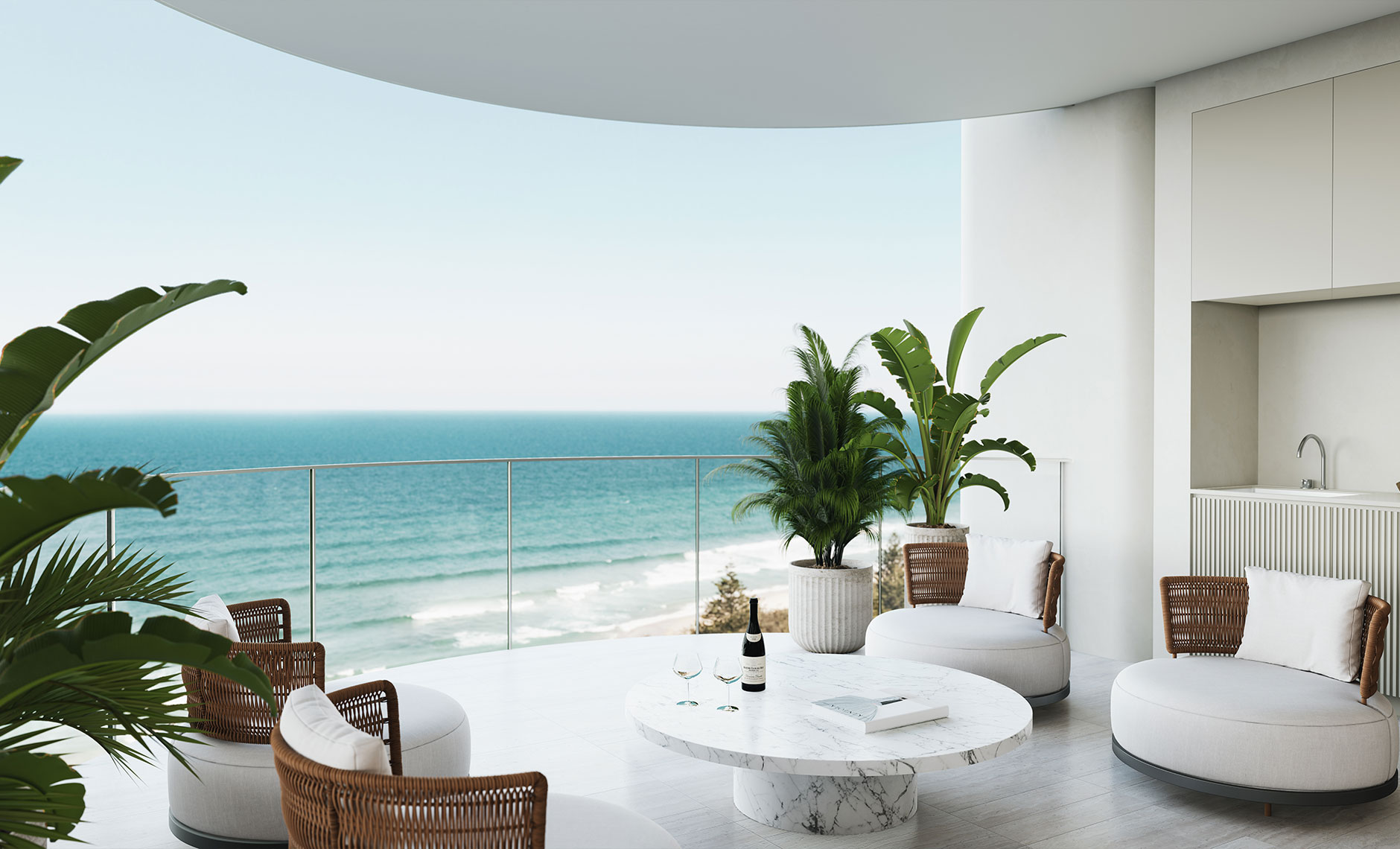 Interiors project in Main Beach, Gold Coast QLD