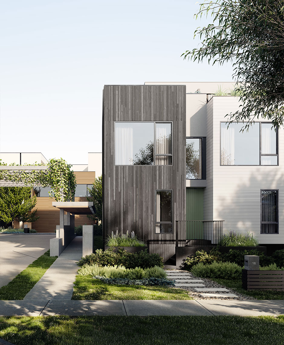 Townhouses project in Port Melbourne, VIC