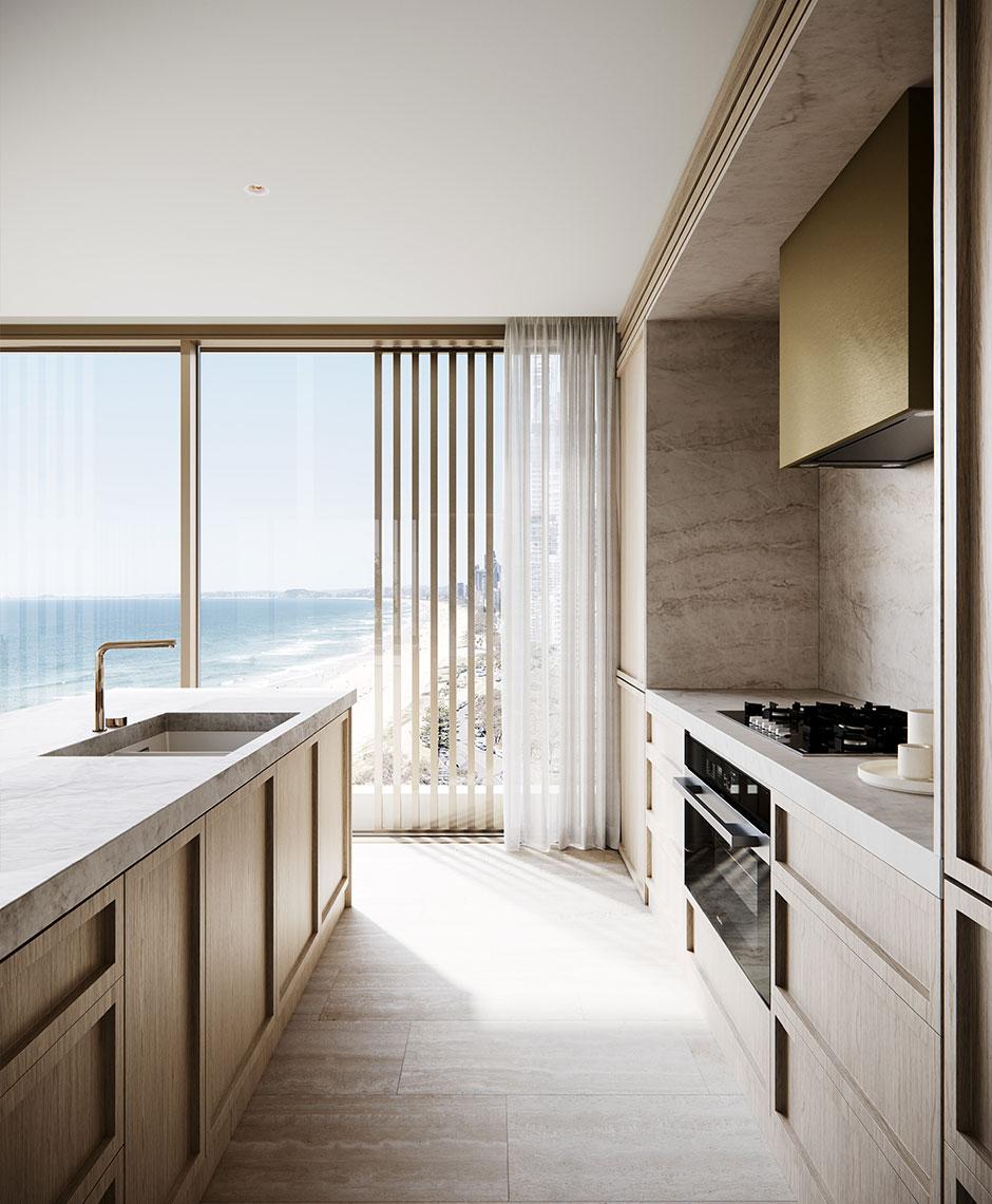 Interiors project in Main Beach, Gold Coast QLD